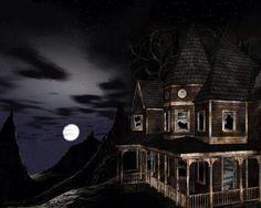An evening mansion moon
