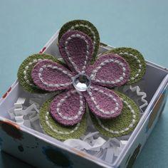 Flower Power hair clippie | shopbub on Flickr - Photo Sharing!