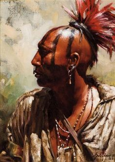 View Mohawk by Robert Griffing on artnet. Browse upcoming and past auction lots by Robert Griffing. Native American Warrior, Native American Images, Native American Artwork, American Indian Art, Native American Tribes, Native American History, American Indians, American Symbols, American Women