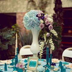 Precious Turquoise - an eclectic wedding collection, combining antique… Purple Wedding, Wedding Turquoise, Luxury Wedding, Dream Wedding, Eclectic Wedding, Wedding Decorations, Table Decorations, Wedding Rentals, Gray Weddings