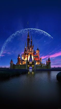 Tap image for more iPhone Disney wallpaper! Disney castle artwork - @mobile9   Wallpapers for iPhone 5/5s, iPhone 6 & 6 plus