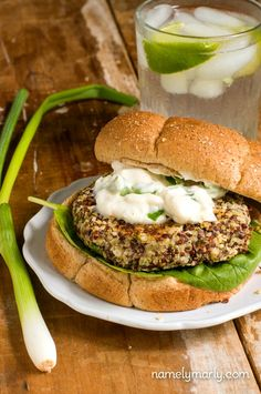 Red Quinoa and Hemp Seed Burgers | NamelyMarly.com