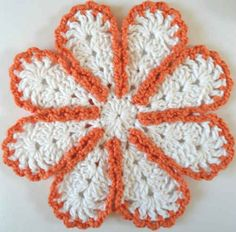 #242 Lazy Daisy Crochet Dishcloth – Maggie Weldon Maggies Crochet