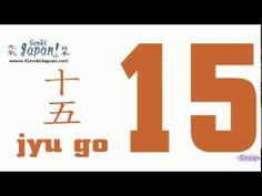 Learn Japanese Numbers 1 to 20 - YouTube  Super catchy. Gonna have to take a rain check on the pronunciation though...