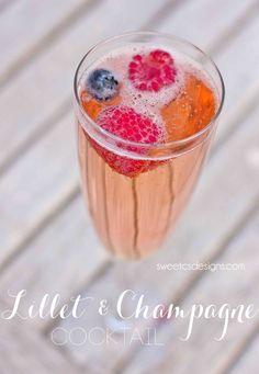 #Lillet Champagne Punch