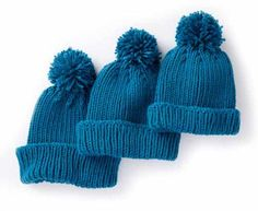 6097493b619 Ribbed Family Knit Hat FREE knitting pattern in Caron One Pound - get the  downloadable PDF