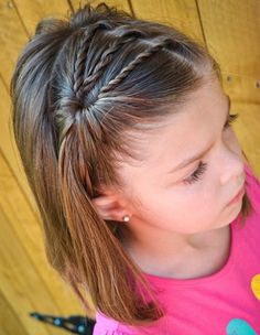 102 Awesome Kids Hairstyles You Have to Try Out on Your Kids - Girl hairstyles - Easy Little Girl Hairstyles, Cute Hairstyles For Kids, Baby Girl Hairstyles, Kids Braided Hairstyles, Hairstyles For School, Ladies Hairstyles, Hairstyles 2016, Hairstyle For Kids, Young Girl Haircuts