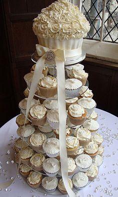 wedding cake/cupcake display