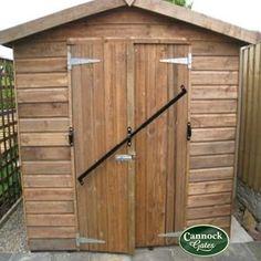 Black security door hasp 4 1 2 heavy duty shed door lock for Front door security bar