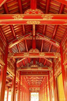 UNESCO World Heritage Site - Royal Architecture, Imperial City, Hue, Vietnam (Đại Nội, Huế, Hoàng cung, Kiến trúc cung đình)