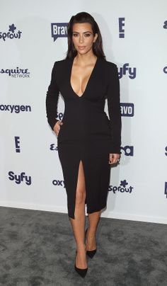 Kim Kardashian in Wes Gordon at the NBCUniversal Upfront presentation.