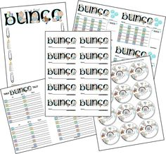 It's a Boy Bunco Printable Set. Great for a baby shower!