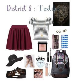 """""""School Outfit : District 8 : Textiles"""" by dawndreader ❤ liked on Polyvore featuring Bamboo, Lipsy, Boohoo, JanSport, Kate Spade, Too Faced Cosmetics, NYX, Bobbi Brown Cosmetics, Christian Dior and Dorothy Perkins"""