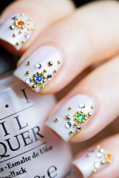 caviar jewel nails