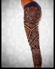 Ideas Tattoo Leg Sleeve Mandala - Famous Last Words Full Leg Tattoos, Leg Tattoos Women, Girls With Sleeve Tattoos, Full Sleeve Tattoos, Design My Tattoo, Full Sleeve Tattoo Design, Mandala Tattoo Design, Tattoo Sleeve Designs, Neue Tattoos