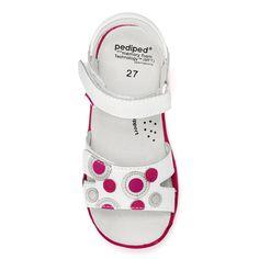 Flex® Жаклин Белый / фуксия | pediped обувь | удобная обувь для детей | младенческой ребенка малыша молодежные ботинки