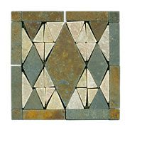 Decorative Tile Accent Pieces Nogales Inserto A 4 In #thetileshop  Tile Decorative Accent