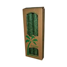 Aloha Bay Palm Tapers Green (4 Candles)