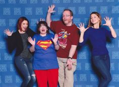 """Us with Melissa Benoist and Chyler Leigh, a.k.a. Supergirl and Alex Danvers from The CW's DC Comics' """"Supergirl"""". C2E2, 2016."""
