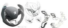 Peugeot 208 - Interior Design Sketch