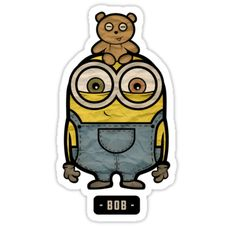 """Minions bob"" chibi minions stickers only $3"