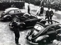 Volkswagen the People's car project under National Socialism families would buy stamps once enough were bought; they could trade in for car. After the war the stamps were honored once production resumed. The bug is the most produced model of any car.