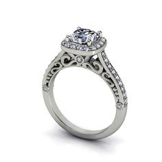 cushion cut engagement ring style 134WDM by EternityCollection, $1725.00