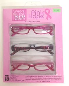 3421cd48e9ac 3 Pack FOSTER GRANT Pink Hope Fashion READING GLASSES +1.50 Scratch Resist  Newt Hope Fashion