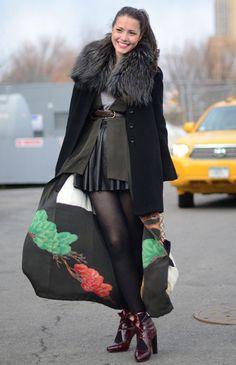 wear a kimono under a coat? brill!