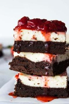 Strawberry Cheesecake Brownies | The Best Blog Recipes | Bloglovin'