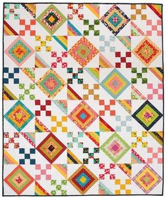 Nine Patch Stretch Quilt Pattern Download DP141200D | Keepsake Quilting
