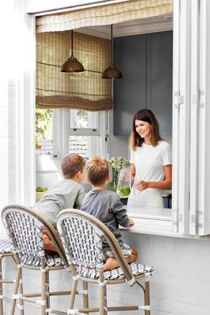 A dark and untouched federation bungalow is converted for family life | Inside Out Bedroom Apartment, Apartment Living, Freestanding Mirrors, Steel Security Doors, Ceramic Stool, Mcm House, Australian Homes, Al Fresco Dining, Patio Chairs