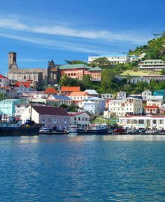 Scenic view of St. George's harbour on the Caribbean Grenada island