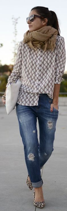 how to wear your boyfriend jeans - outfit idea Style Outfits, Fall Outfits, Casual Outfits, Cute Outfits, Look Fashion, Womens Fashion, Fashion Trends, Mommy Fashion, Gq Fashion