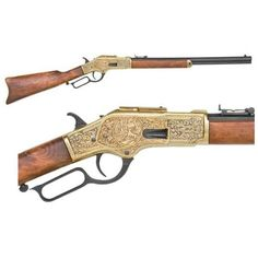 This replica rifle has a stunning look and an octagonal barrel. Comes with a unique brass trim that makes it flawless to fit in your collection. Want a working Replica rifle? Do not worry as all parts of this product are functional.
