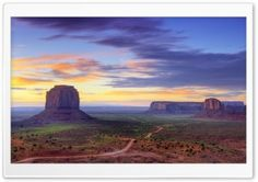 Utah Monument Valley Road HD Wide Wallpaper for Widescreen