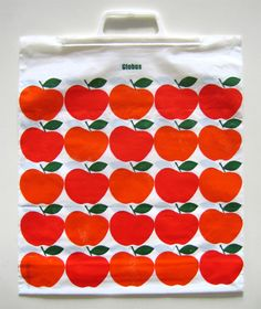 Vintage plastic Swiss bags graphic collection.