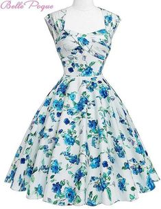 79b7c7544a2 Belle Poque Women Summer Vintage 50s Dresses Audrey Hepburn Elegant Floral  Vestidos Plus Size robe Sexy Pin up Rockabilly Dress - 1   L