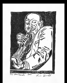 Series: Grit and Glamour Title: Jazz Hands #lorraineimwoldart #vintage #horn #trumpet #musician #jazz #blow http://ift.tt/1PFKcZi