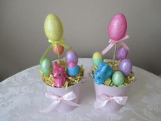 Help Support Handmade and Home Run Businesses!  More Easter decor, basket fillers and magnets for sale in my shop! Stop on by!  Super Cute Easter Home Decor Accent Piece!  ~~~ Please choose pink or bl