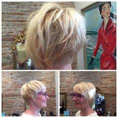Color + corte + peinado - Color + cut + blowdry by #OndaSalon Director #PieroZattera.  #colordepelo #cortedepelo #peinado #haircolor #haircut #blowdry #Barcelona #Barceloneta