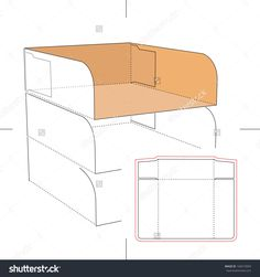 Tray With Blueprint Layout Stock Vector Illustration 166574069 : Shutterstock
