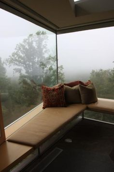 This may be our favorite window seat to-date. It is so simple and elegant.