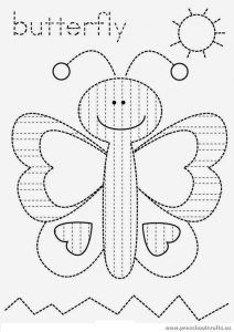 butterfly-is-for-trace-line-worksheets