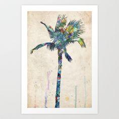 Palm Tree Art Print by Taylor Payne - $16.00