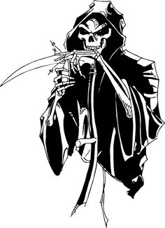 Grim Reaper Bow Arrow Hunting Bone Skeleton Truck Window Vinyl - Bow custom vinyl decals for car