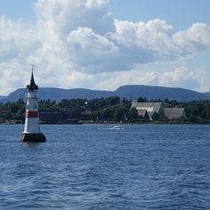 oslo   norge   oslofjorden   fyr med utsikt på museene på bygdøy