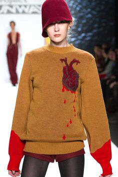 Project Runway Winner Michelle Lesniak Franklin Bleeding Heart Sweater--I want this so bad