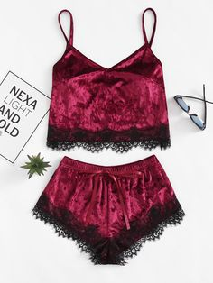 Shop Eyelash Lace Hem Cami Top & Shorts Pajama Set online. SheIn offers Eyelash Lace Hem Cami Top & Shorts Pajama Set & more to fit your fashionable needs.