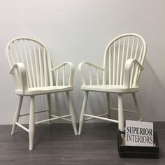 Superior Paint Co. Ivory This is our soft warm white and one of our most popular colours! We love pairing Ivory with Fresh Air, Robins Egg or Burlap. Outdoor Chairs, Outdoor Furniture, Outdoor Decor, Windsor Dining Chairs, Robins Egg, Chalk Paint, Burlap, This Is Us, Ivory